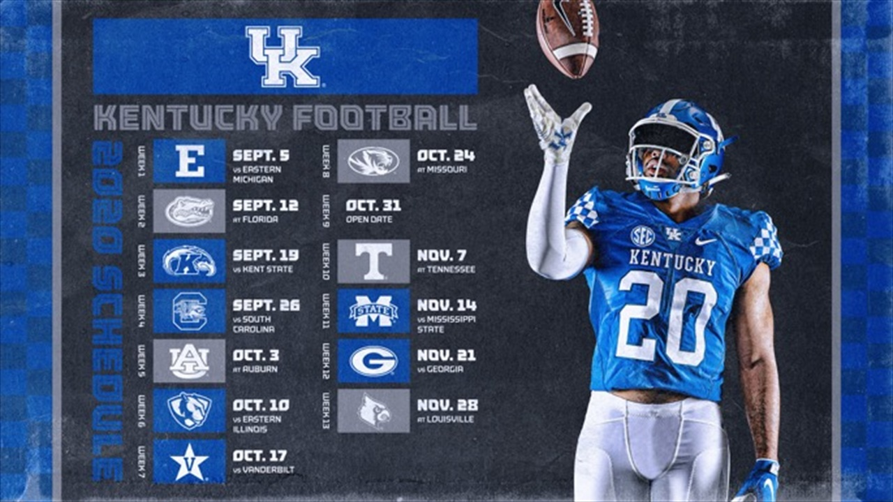 Kentucky Football 2020 Schedule 2020 UK Football Schedule Released | Big Blue Banter
