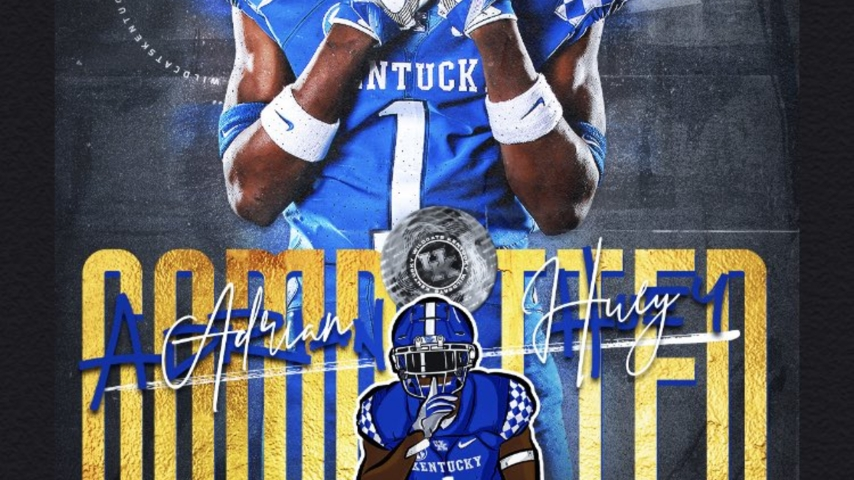 Tennessee CB Adrian Huey Commits to Kentucky
