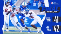 Kentucky Falls in Overtime 42-41 to Ole Miss